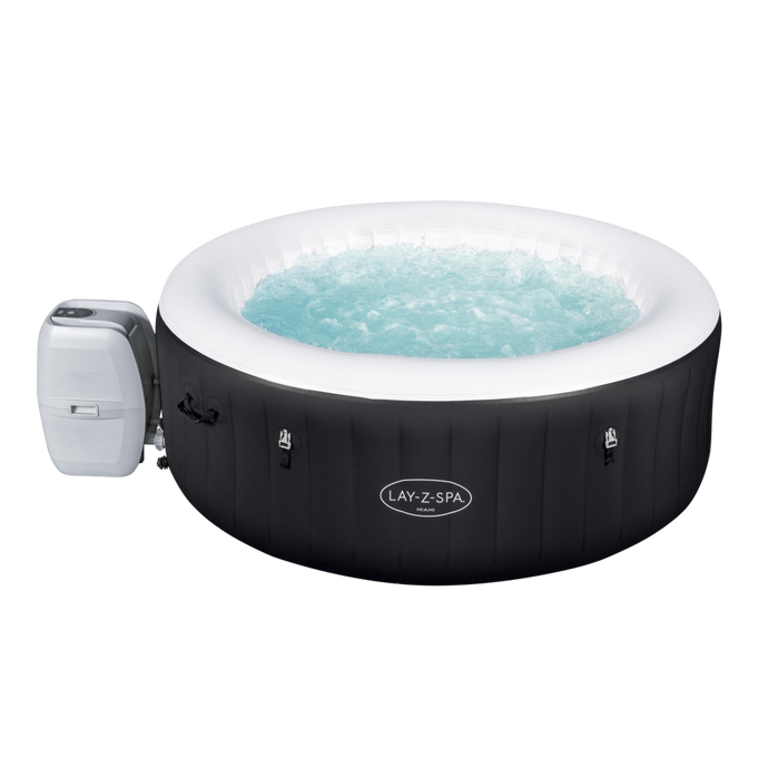 Lay-Z-Spa Miami (2021) AirJet 60001 Inflatable Hot Tub Spa by Bestway