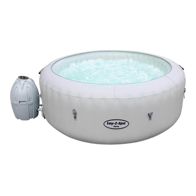 Lay-Z-Spa Paris AirJet 54148 Inflatable Hot Tub Spa by Bestway 1