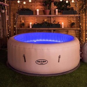 Lay-Z-Spa Paris AirJet 54148 Inflatable Hot Tub Spa by Bestway 5