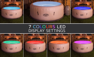 Lay-Z-Spa Paris AirJet 54148 Inflatable Hot Tub Spa by Bestway LED Lights