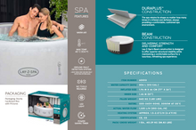 Load image into Gallery viewer, Lay-Z-Spa Paris (2021) AirJet 60013 Inflatable Hot Tub Spa by Bestway Features 1