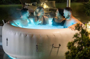 Lay-Z-Spa Paris (2021) AirJet 60013 Inflatable Hot Tub Spa by Bestway with People 5