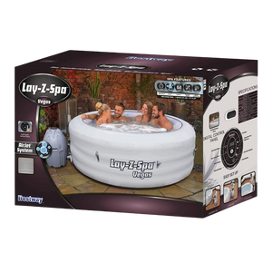 Lay-Z-Spa Vegas AirJet 54112 Inflatable Hot Tub Spa by Bestway Box