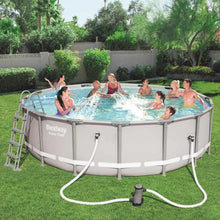 Load image into Gallery viewer, Bestway 56451 Power Steel Above Ground Round Frame Swimming Pool (488x122cm)