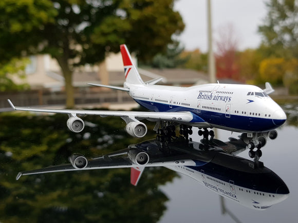 British Airway B747-400 (Negus Retro Livery) -- 1:400 by Gemini Jets