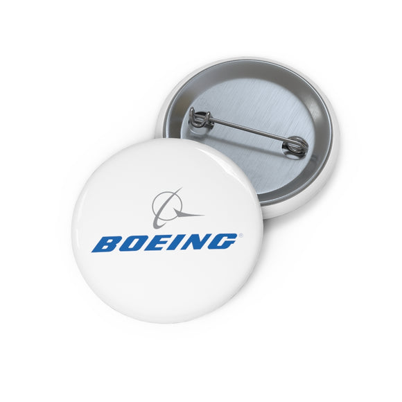 Boeing Logo Pin Button