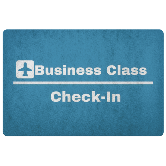 Business Class ~ Check In - Aviation Themed Multi-Purpose Doormat