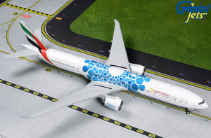 "Emirates Boeing 777-300ER ""Blue Expo 2020"" -- 1:200 by Gemini Jets"