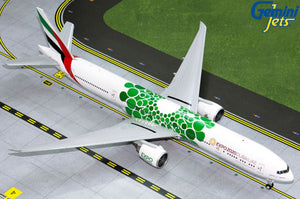 "Emirates Boeing 777-300ER ""Green Expo 2020"" -- 1:200 by Gemini Jets"