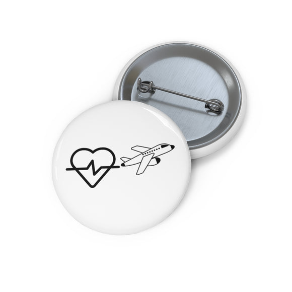 Love Plane Pin Button