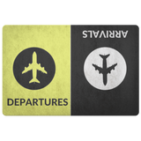 Departure ~ Arrival - Aviation Themed Multi-Purpose Doormat