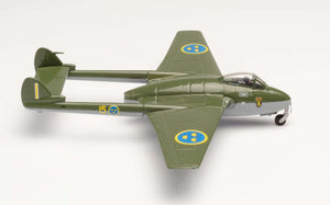 DE HAVILLAND VAMPIRE - Royal Swedish Air Force -- 1:72 by Herpa