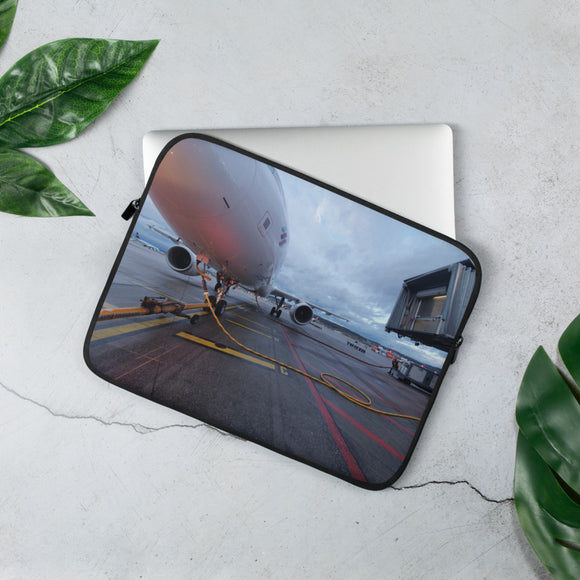 Parked Airplane Laptop Sleeve