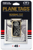 Gold Plated Money Clip made from President Trump's Private Jet Boeing 727 - TAIL# VP-BDJ - craft747