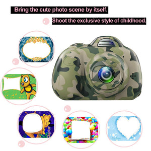 2.0 Inch LCD Screen Double Lens ( Rear & Front Camera 1920*1080)  Selfie Digital Camera for Kids (BS-04)