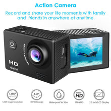 Load image into Gallery viewer, 4K HD Sports Action Camera w/o Wifi Black (BS-24)