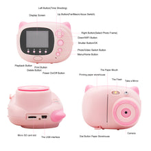 Load image into Gallery viewer, 2.4 Inch IPS  Display Screen Instant Print Digital Camera for Kids (BS-06)