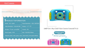1.77 Inch TFT Display Screen Girls/Boys Game & Video Camera