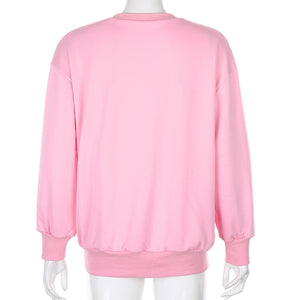 Concise Style Women Fleeces O Neck Tops