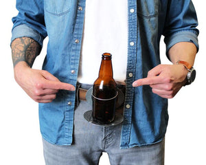This belt buckle holds your beer