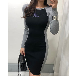 Women's Casual Long Sleeve T Shirt Dress