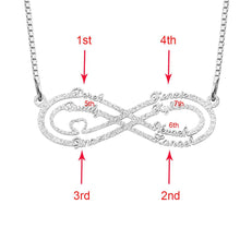 Load image into Gallery viewer, Personalized Stainless Steel Infinity Name Necklace