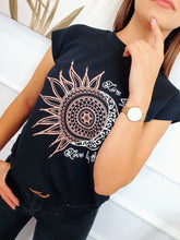Load image into Gallery viewer, Black sun T-shirt