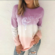 Load image into Gallery viewer, autumn women's t shirt multicolored casual long sleeve round collar loose sweatshirt printed tops tie dyeing oversize shirt