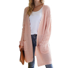 Load image into Gallery viewer, patchwork striped cardigan blouses female long sleeve batwing boho casual crochet oversized knit sweater coat female