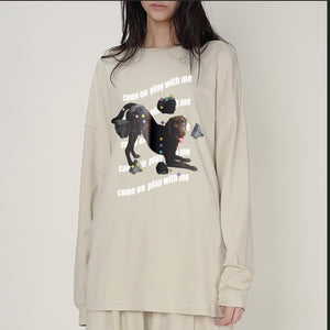 Women's fashion Beige Long Sleeve Shirt Tops