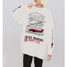 Load image into Gallery viewer, women'fsahion white long sleeves fleece tops
