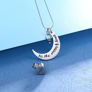 Personalized Love You To the Moon & Back Urn Necklace For Ashes