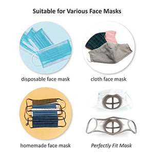 3D Mask Bracket for Comfortable Mask Wearing by Creating More Space for Breathing Ideal Makeup Saver