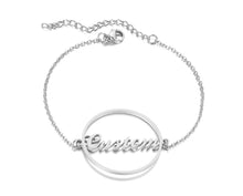Load image into Gallery viewer, Personalized Name Bracelet for Women Girls Box Chain Links Stainless Steel Love Custom Bangle Gift