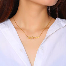 Load image into Gallery viewer, Personalized Name Necklace Custom Made Any Name Font Stainless Steel Metal Women Jewelry