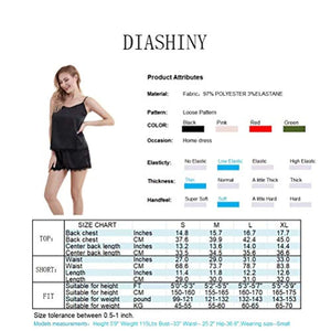 Women's pj Shorts Set Lace Satin Pajamas Set Cami Silky Lingerie pjs Nightwear