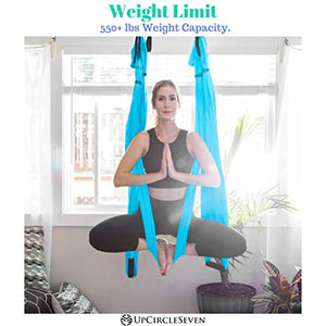 Aerial Yoga Swing Set- Antigravity Ceiling Hanging Yoga Sling - Inversion Swing for Beginners & Kids