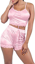 Load image into Gallery viewer, Women's V-Neck Sleeveless Pajamas Set Lace Cami Set with Short Pants Sleepwear PJ Set Nightwear