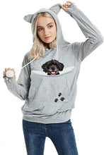 Load image into Gallery viewer, Unisex Pet Carrier Hoodie Cat Dog Pouch Holder Sweatshirt Shirt Top