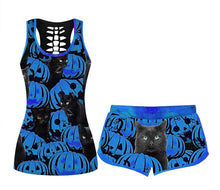 Load image into Gallery viewer, Women's Comfy  Halloween Elastic Drawstring PJ  Set (true to size)