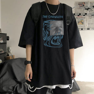 The Growlers Graphic Drop Shoulder Oversize Tee  Boyfriend Tee