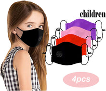 Load image into Gallery viewer, [4 - 6 PCS ] Kids Reusable Breathable Seamless Face Bandanas with Breathing Valve Dustproof