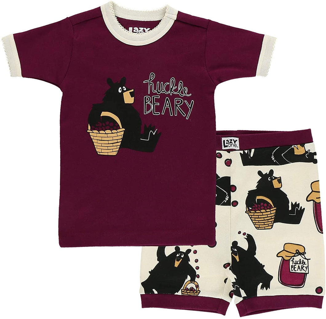 Lazy One Short Sleeve Tee and Short Summer PJ Sets for Girls and Boys | Kids Pajama Sets