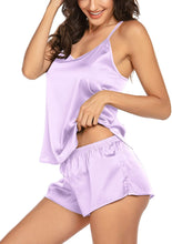 Load image into Gallery viewer, Pajamas Womens Sexy Lingerie Satin Sleepwear Cami Shorts Set Nightwear S-XXL