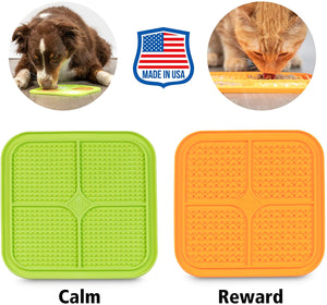 Hyper Pet Licking Mat for Dogs & Cats - IQ Treat Mat | Made in USA | Calming Mat for Anxiety Relief & Boredom Buster. Fun Alternative to Slow Feeder Dog Bowls & Snuffle Mat | Just Add Healthy Treats