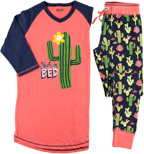 LazyOne Women's Soft Casual Pajama Leggings and Tall Tee Sets with Cute Fun Prints