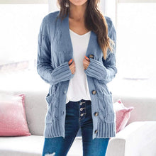 Load image into Gallery viewer, Casual open front cardigan women's blouses