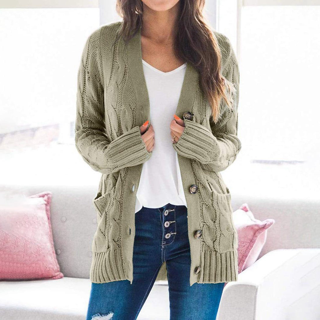 Casual open front cardigan women's blouses