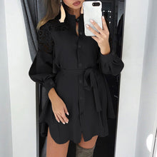 Load image into Gallery viewer, plus size zanzea spring fashion long shirt dress
