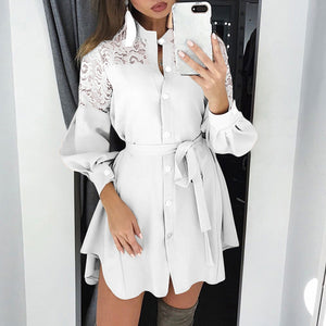 plus size zanzea spring fashion long shirt dress